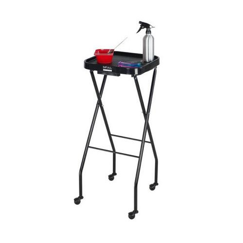 Black Professional Coloring Cart Trolley Beauty Salon Trays