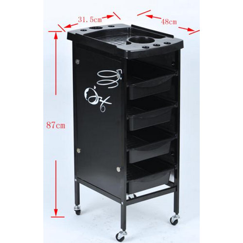high quality salon trolley with strong wheels for sale hairdressing coloring tool cart