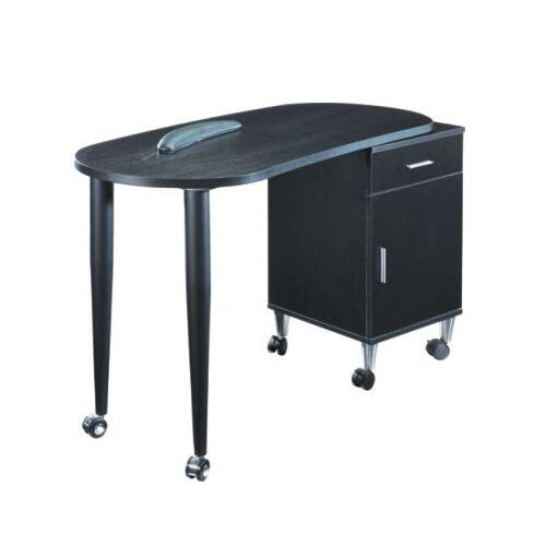 Fashion black nail table / nail dryer station / portable manicure table nail station