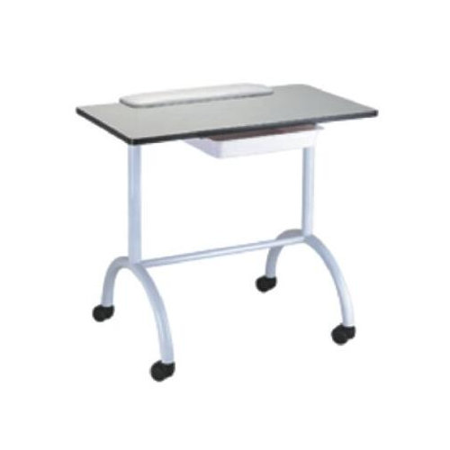 Cheap White Laminated Top Manicure Nail Table With Drawer