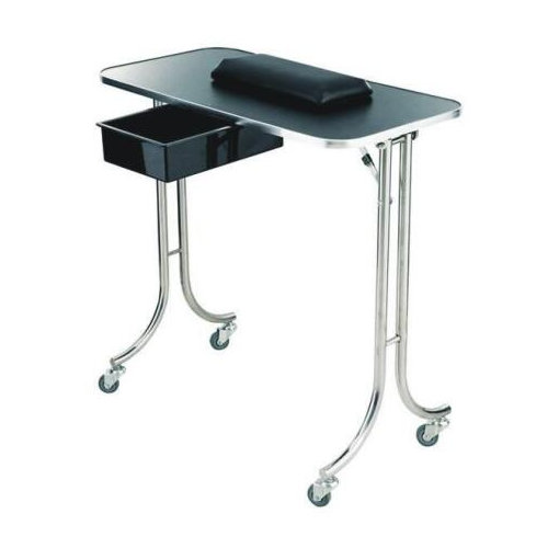 cheap metal manicure table nail dryer station with drawer for sale