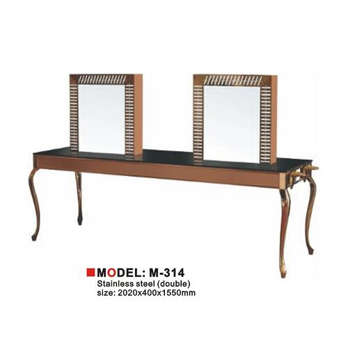 New Double Sides Four Face with Desk Hair Salon Mirror Station for Sale in Barber Shop
