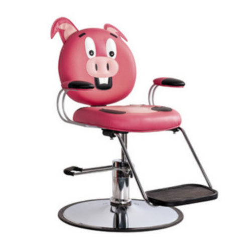 High quality salon furniture for sale cartoon pig salon chair kids chair with footrest