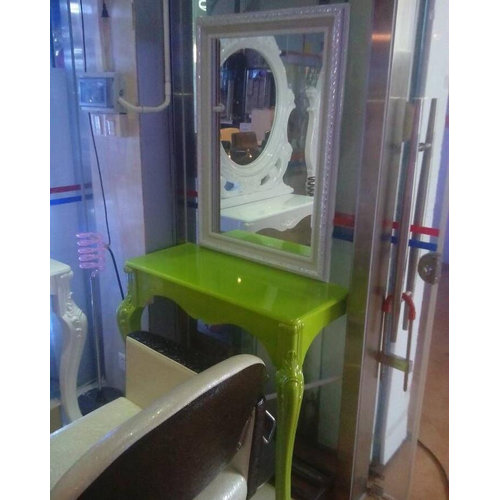 All Set Salon Furniture European Style Barber Mirror Station