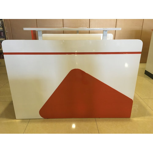 Pain Nail salon reception desk Painted finished acetone proof SPA table design receptionist table