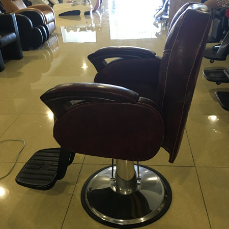 Guangzhou High quality hairdressing antique barber chair reclining salon man station