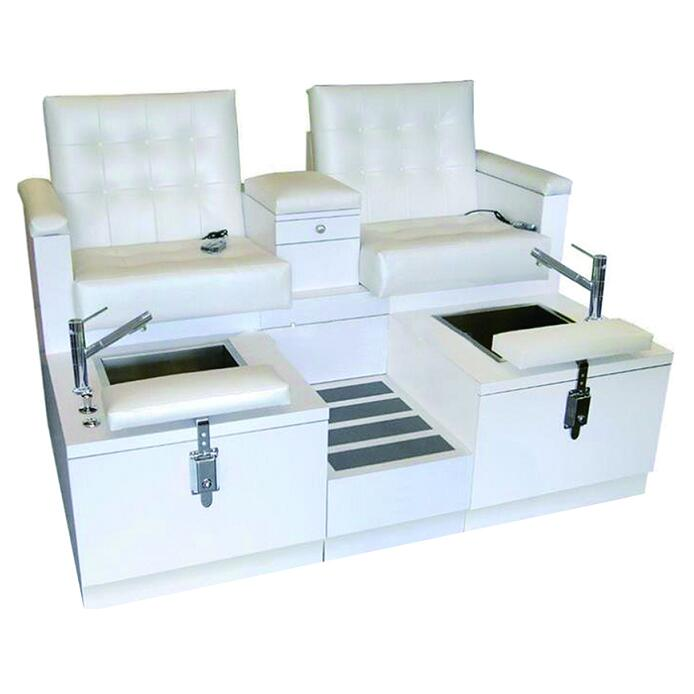Wondrous Double Spa Chair Pedicure Station Foot Massage Bench Creativecarmelina Interior Chair Design Creativecarmelinacom